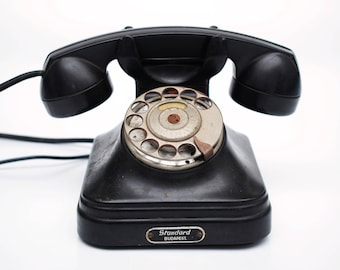 vintage 40s Budapest Hungary Bakelite Phone Modernist Mid Century Standard Postal Office Telephone 50s