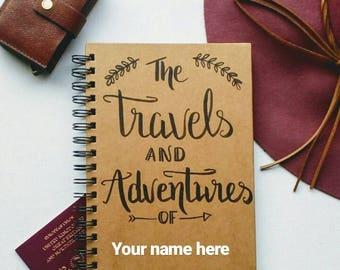 Personalised Travel Journal- Notebook- Adventure Book