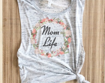 Mom Life Muscle Tank, Mom life shirt, mama bear shirt, pregnancy announcement shirt, mom life, pregnant shirt, mom life is the best life,