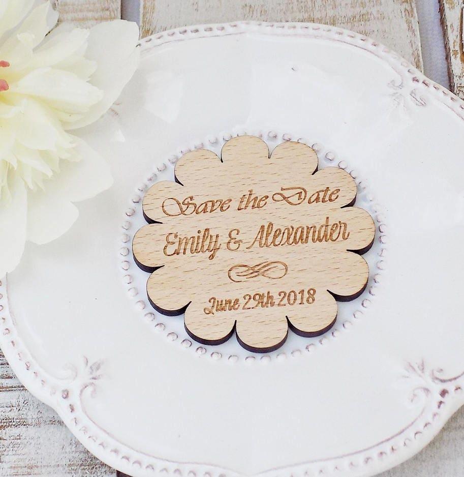 Wedding Favor Magnet Wooden Save The Date Rustic Wedding Magnet