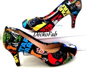 Star Wars Fabric Low Heels