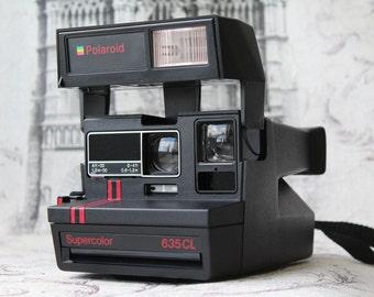 Rare Vintage Polaroid SuperColor 635 Camera, Instant photo, Polaroid Camera, Vintage Camera, Retro Camera, Retro photoCamera, Polaroid 635