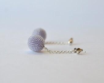 earrings lilac