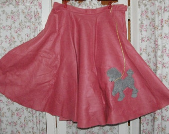 1950's style pink poodle skirt