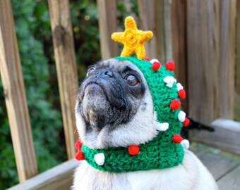 """Dog Hat - """"Oh Christmas Tree"""" / Made to Order"""