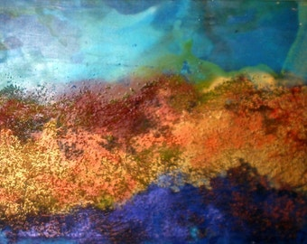 Original Landscape Art by Caroline ashwood - Textured and contemporary abstract painting on canvas - FREE SHIPPING