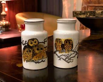 Antique Owl Salt & Pepper Shakers