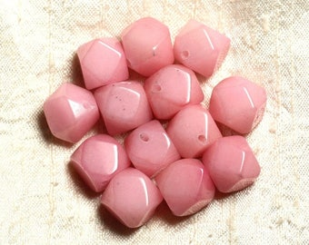 2PC - jade stone - Rose faceted Nuggets 14-15mm 4558550004833 Cubes