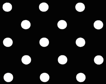 Black Polka Dots Curtain Panels. 25 or 50 Inch Widths. 63, 84, 96, 108, 120 Lengths. Window Treatments. Dots Drapery Curtains.