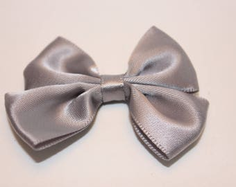 1 40x60mm jewelry scrapbooking gray satin bow
