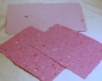 Hot Pink and Sherbet Scrapbooking Colors, Hand Made Recycled School Paper