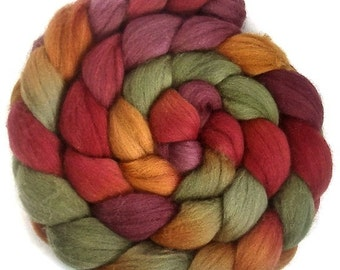 Handpainted Polwarth Wool Roving - 4 oz. GRAPEVINE - Spinning Fiber