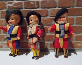 Set of 1960s Doll Swiss Army Guards