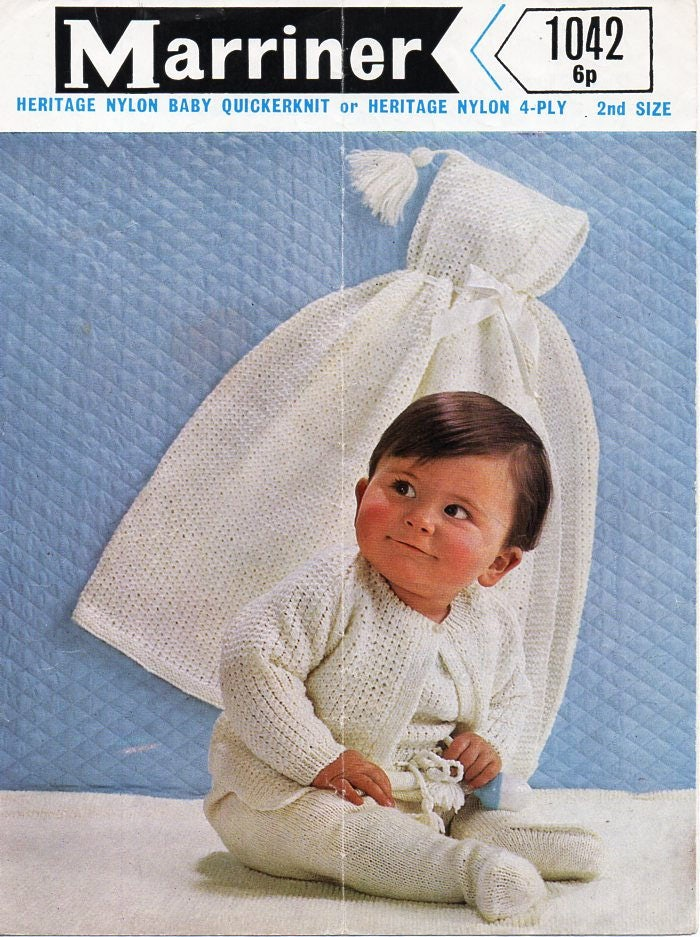 baby cape knitting pattern pdf download hooded cape dungarees ...