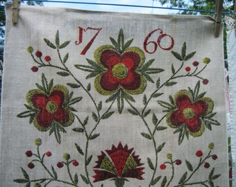 vintage kitchen towel, handprints by John L Gieroch, tea towel,like new condition, vintage kitchen decor, drying dishes
