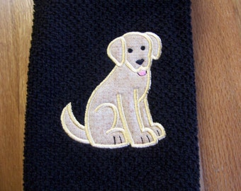 Yellow Lab Kitchen or Hand Towel FREE PERSONALIZATION
