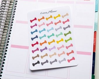 Dumbbell Regular size (matte planner stickers, perfect for planners)