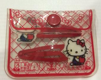 Vintage Hello Kitty Sanrio hair pins made in Japan