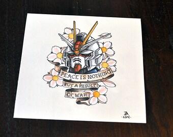 Gundam & Ink Print