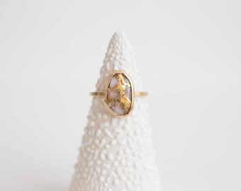 Golden Quartz Ring | 14k Recycled Gold | One of a Kind
