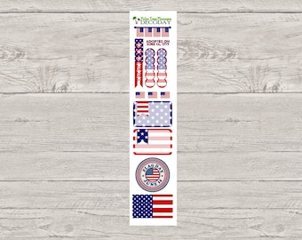 DECODAYS Flag Day Planner Stickers