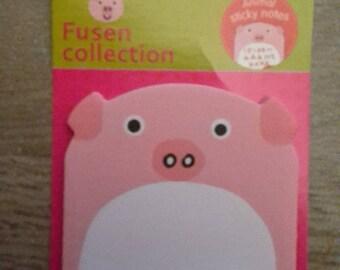 Sticky note animal pig