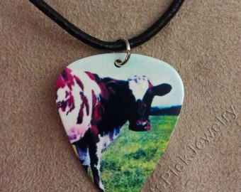 Pink Floyd Atom Heart Mother Album Cover Art Guitar Pick Necklace