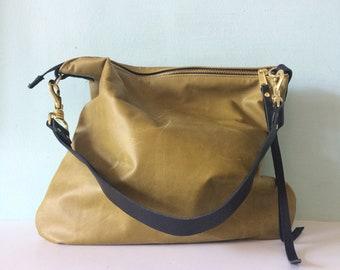Leather bag, green leather handbag, green leather messenger bag, khaki green leather purse