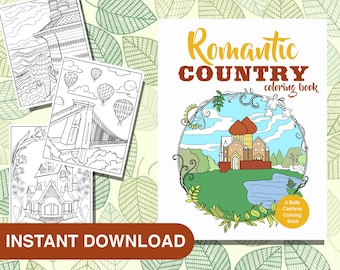 25 Romantic Country Coloring Pages