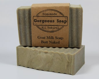 Butt Naked Goat Milk Soap - All Natural Soap, Handmade Soap, Homemade Soap, Handcrafted Soap