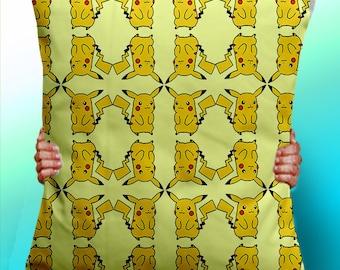 Pikachu Pattern pokemon - Cushion / Pillow Cover / Panel / Fabric