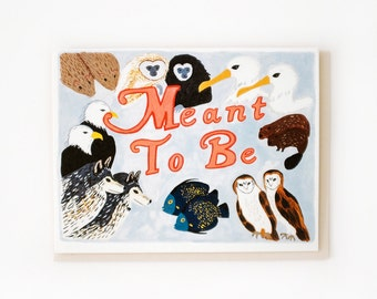 Meant To Be Animal Pairs Card