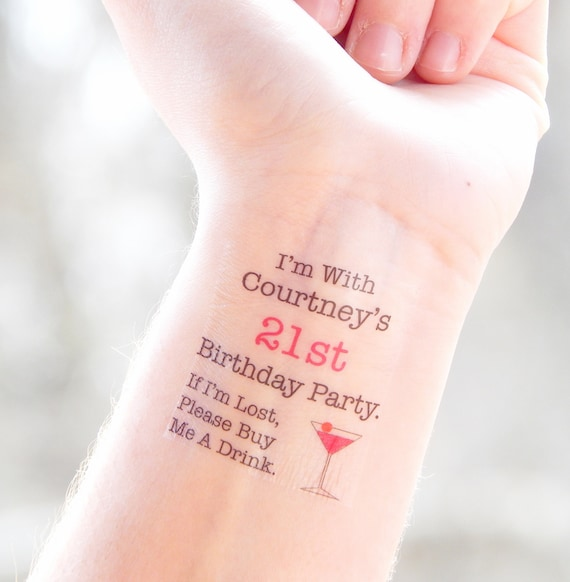 21st Birthday Party Temporary Tattoos 21st Birthday Party