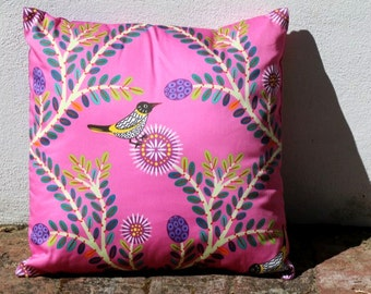 New Holland Honey Eater and Showy Honey Myrtle Cushion Cover