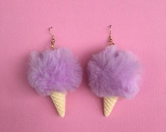 Pom Pom Ice Cream Earrings
