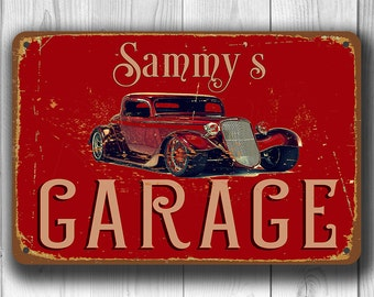 CUSTOM GARAGE SIGN Customizable Garage Signs Vintage Style Sign Personalized