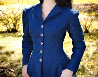 Victorian jacket, Miss Peregrine costume, handmabe embroidery, Made to order