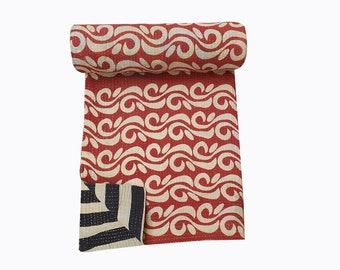 Vintage recycle  Kantha Quilt, bohemian Throw,kantha Blanket
