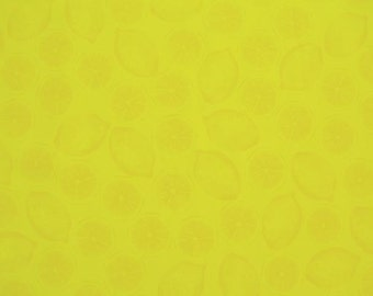 Lemons in Yellow on pale Yellow  from Benartex