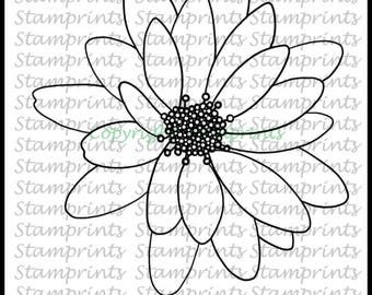 African Daisy (TLS-1730) Digital Stamp. Cardmaking.Scrapbooking.MixedMedia.