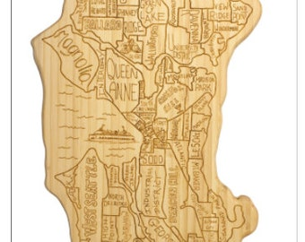 Seattle Engraved Cutting Board