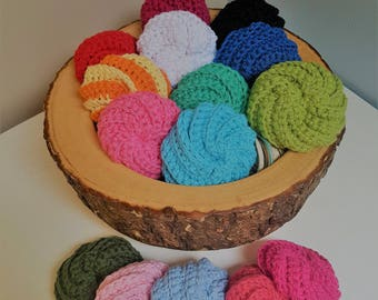 Kitchen Scrubby, Crochet pads, Spiral Scrubby, Face Scrubbies