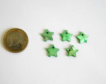 5 charms star Pearl Green 12 x 12 mm