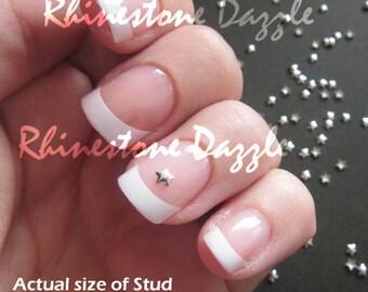 2mm Silver Star Studs, Nail studs, Metallic Studs, 3D Nail Design, DIY Nail Art, Silver Stars, Metal Studs, Silver Nailart, Nail Decoration