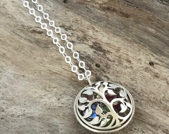 Grandma Necklace with Birthstones |Family Tree Birthstone Necklace | Family Tree Nana Necklace | Tree of Life Necklace| Grandmother Necklace