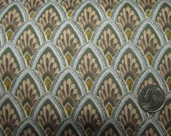 """1 yard Home Decor Upholstery Fabric 58"""" wide Unusual Gray Brown Silver Sage Green Metallic (sold BTY)"""