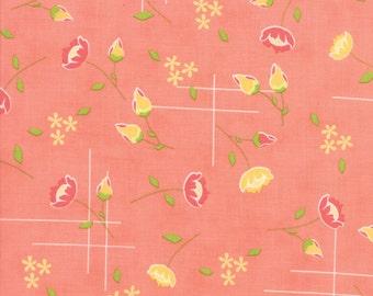 Lulu Lane Meadow fabric in Peach by Corey Yoder for Moda Fabrics #29021-14