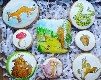 Gruffalo cookie gift, gruffalo biscuits, gruffalo new baby gift, gruffalo birthday gift