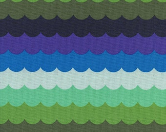 Cotton and Steel Scallops Landscape by the Half Yard