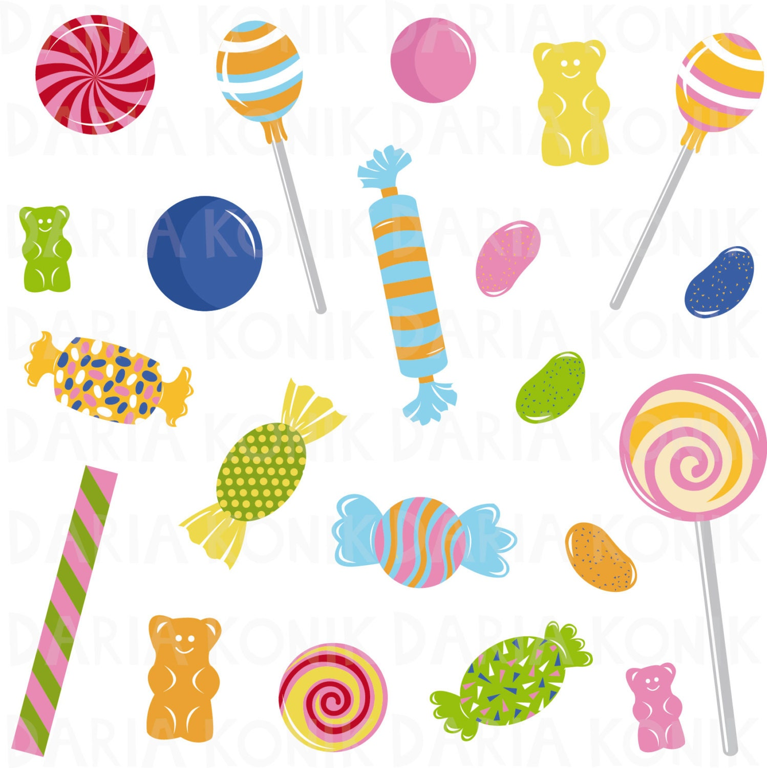 candy clip art set sweets clipart jelly beans gummy bears rh etsy com sweets clipart border sweets clip art free